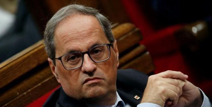 رئیس منطقه کاتالونیای اسپانیا در دادگاه محکوم شد