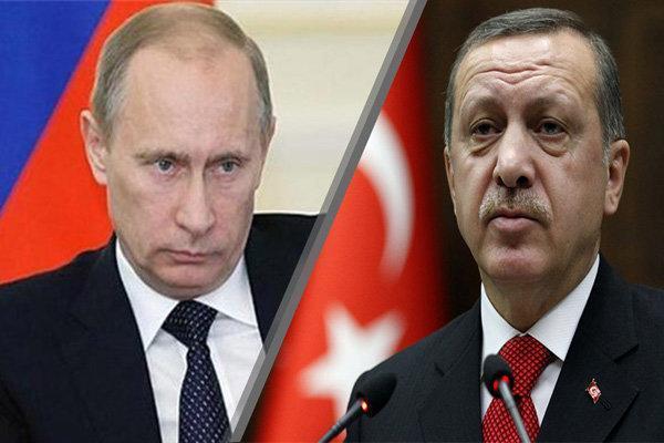 اردوغان و پوتین درباره سوریه و لیبی رایزنی کردند