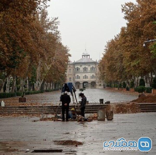 حفر چاه در محوطه تاریخی باغ ملی تهران
