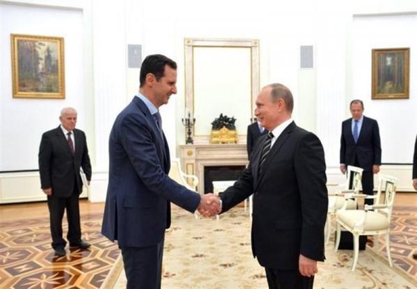 پوتین به مناسبت سال جدید میلادی برای بشار اسد پیغام تبریک فرستاد