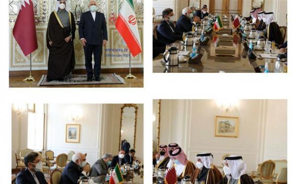 وزیر امور خارجه قطر با ظریف ملاقات کرد