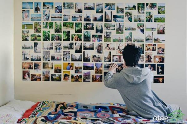 ایده های تازه برای تزیین دیوار اتاق با عکس های خاطره انگیز